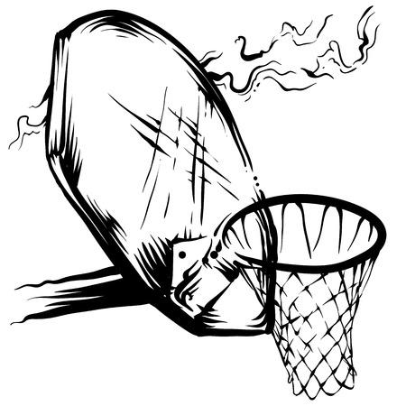 バスケット ボールの縁  イラスト・ベクター素材