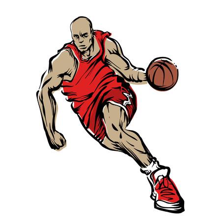 Basketball player Vettoriali