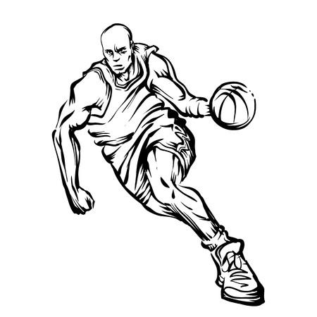 Man spelen basket bal Stockfoto - 77447458