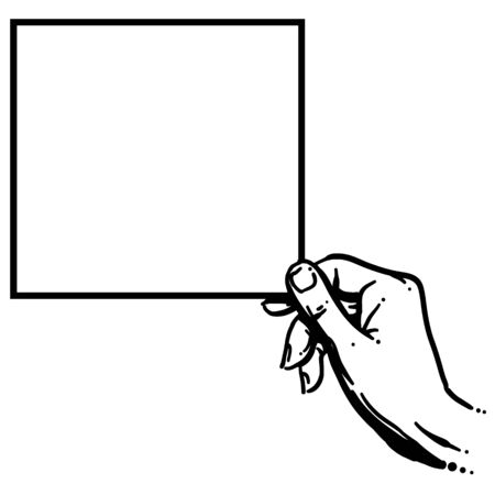 blank sign held by hand