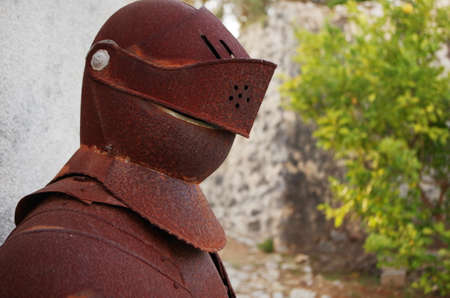 Old and rusty Medieval Knights Armor Фото со стока