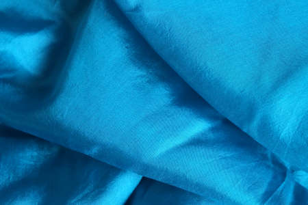 Smooth and shiny blue silk handkerchief