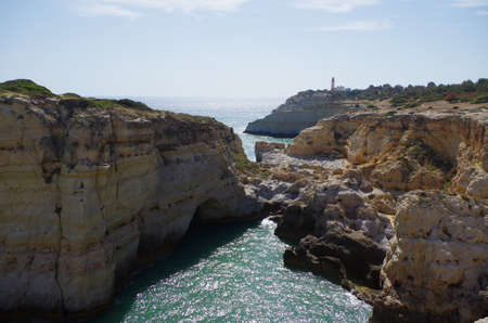 Hiking trail of the Sete Vales (seven valleys) in Lagoa. Algarve, Portugal Фото со стока - 80993325