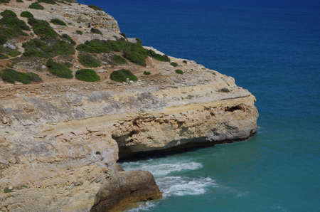 Hiking trail of the Sete Vales (seven valleys) in Lagoa. Algarve, Portugal
