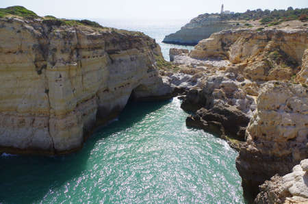 Hiking trail of the Sete Vales (seven valleys) in Lagoa. Algarve, Portugal Фото со стока - 80936112