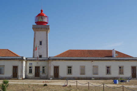 Lighthouse of Cape Carvoeiro in Lagoa. Algarve, Portugal