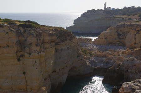 Hiking trail of the Sete Vales (seven valleys) in Lagoa. Algarve, Portugal Фото со стока - 80993328