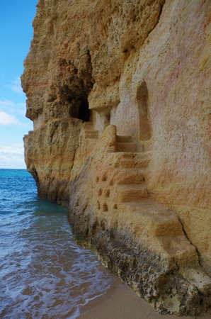 Carvalho beach in Carvoeiro, Lagoa. Famous travel destination in Algarve, Portugal Фото со стока - 80889447