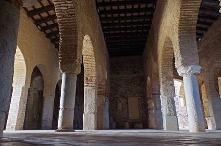 Mosque of Almonaster, a famous travel attraction in Huelva. Andalucia, Spain Editorial