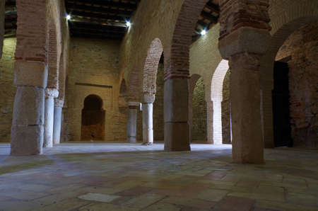 Mosque of Almonaster, a famous travel attraction in Huelva. Andalucia, Spain Imagens