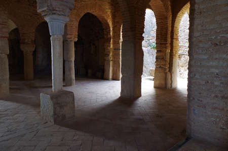 archeological: Mosque of Almonaster, a famous travel attraction in Huelva. Andalucia, Spain Stock Photo