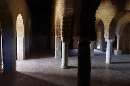 archeological: Mosque of Almonaster, a famous travel attraction in Huelva. Andalucia, Spain Editorial
