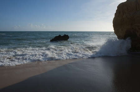 Sao Rafael Beach in Albufeira. A popular travel and vacations destination in Algarve. Portugal