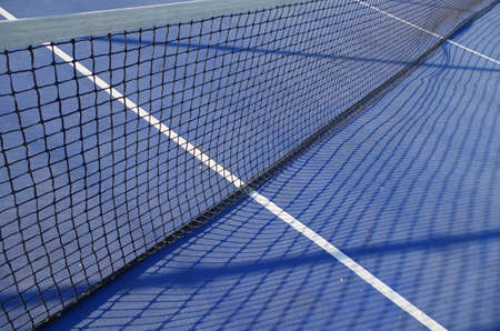 Blue Tennis Court Scene. Sports and Lifestyles