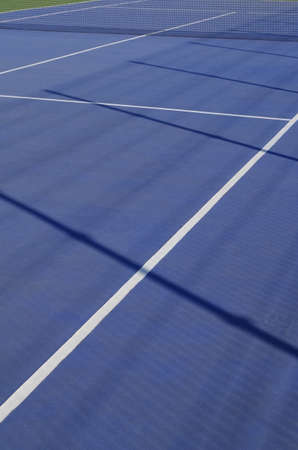 Blue Tennis Court Scene. Sports and Lifestyles Фото со стока - 84408809