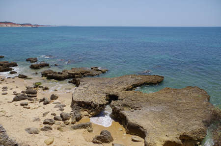 Olhos De Agua beach in algarve, Portugal. Travel destinations Фото со стока - 82522530