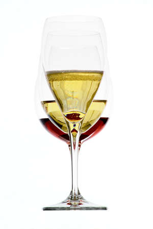 Glass of  wine isolated on a white background  photo