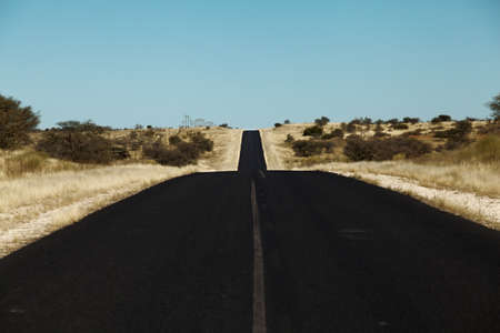 paved road in the desert Namibia Africa photo