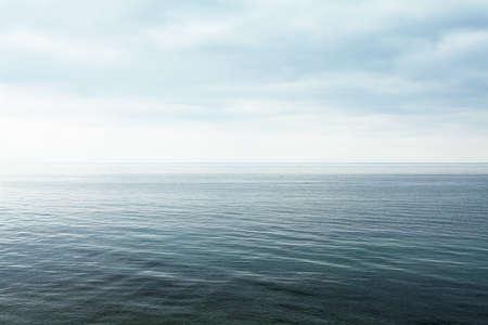 horizont: lake surfaceon the horizont Stock Photo