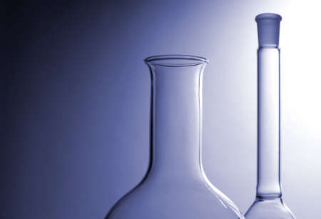 Laboratory glasses over shadow background Stock Photo