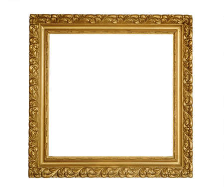 Square classic frame isolated over white Stock Photo