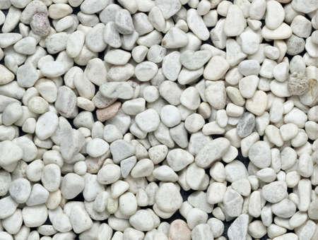 White little stones - texture Stock Photo