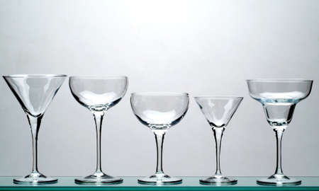 Wine and drink glasses Stock Photo