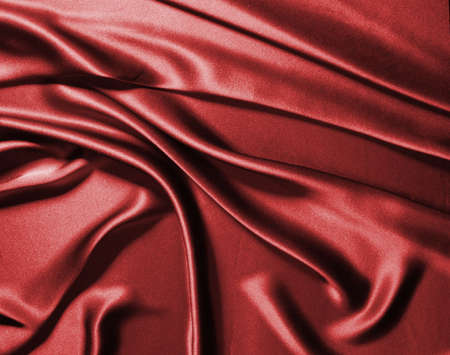 Waves of red silk