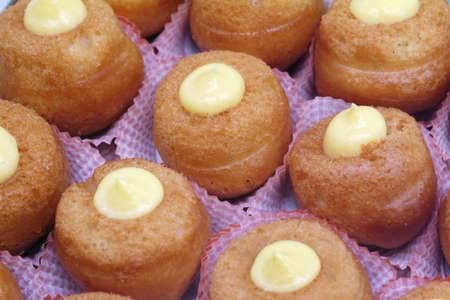 Italian pastry - baba with cream - texture Stock Photo - 288527