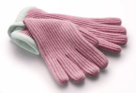 pink woolen gloves Stock Photo - 288521