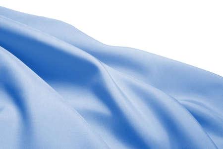 Light blue silk over white