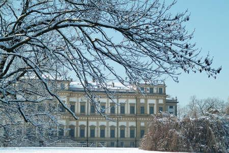 Villa reale (monza - italy) - in winter Stock Photo - 300642