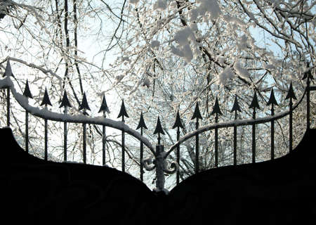 Iron gate in winter Stock Photo - 300641