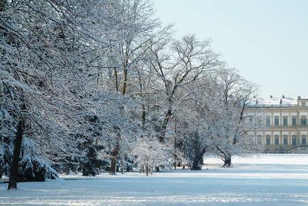 Villa reale (monza - italy) - in winter Stock Photo - 300615