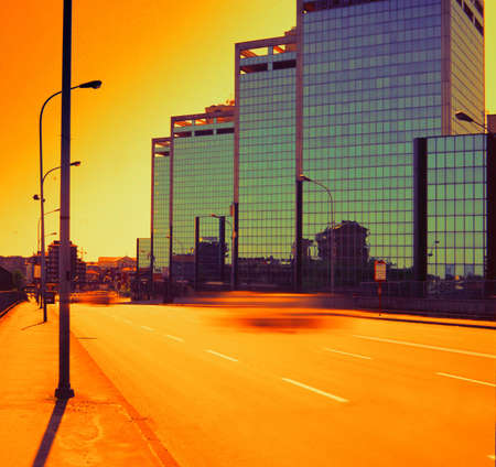 Milan-Italy- sunset on South towers Stock Photo - 300623