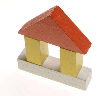 wooden toy's house1 Stock Photo - 300602
