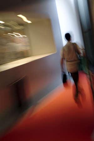 Woman walking indoor - movement