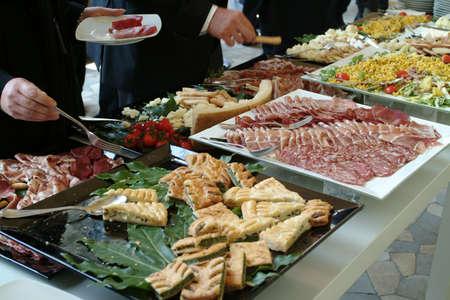 Catering set - businessmen after conference