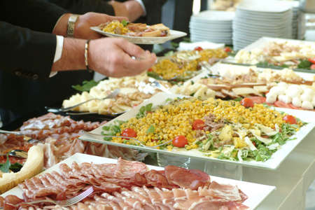 cater: Catering set - businessmen after conference
