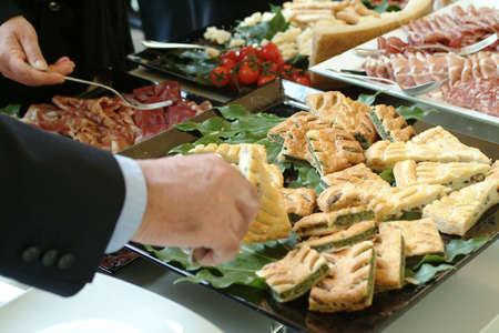 carnes y verduras: Sistema de abastecimiento - hombres de negocios despu�s de la conferencia
