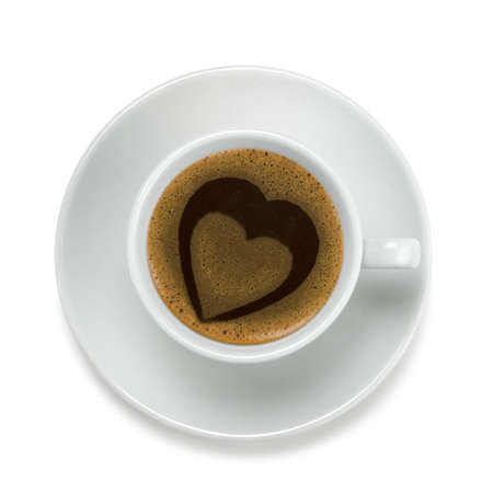 Coffee cup with heart Stock Photo