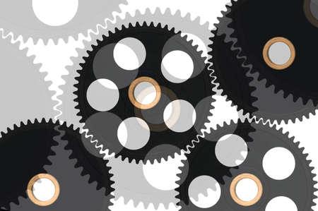 Black gears Stock Photo