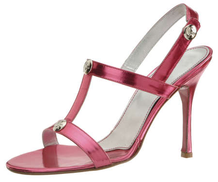 high heel red shoe Stock Photo