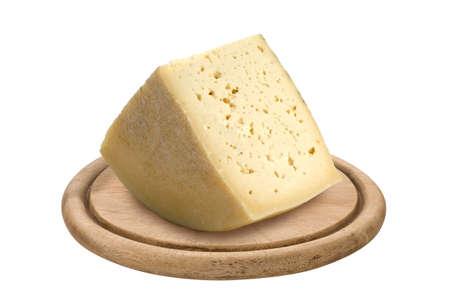 italian cheese from Friuli Region, isolated Stock Photo