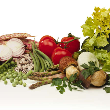 still life of a various mix of vegetables Stock Photo