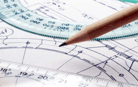 technical drawing - detail Stock Photo