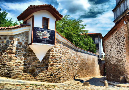 determines: Vista del punto di muro Hisar - Old Town - Plovdiv, Bulgaria