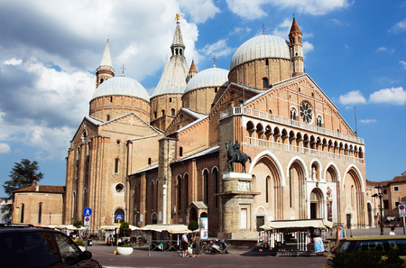 campanile: Cathedral in Padua Stock Photo