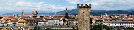 Panorama of historical centre of Florence. photo