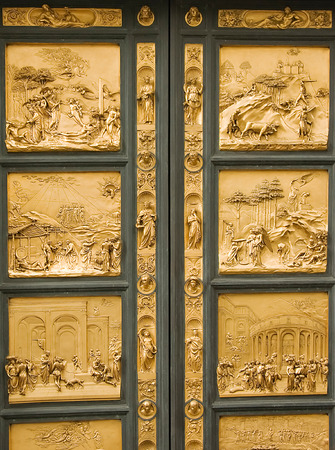 Entrance door to baptistery  photo